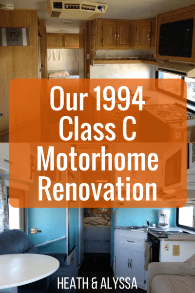 How we renovated and transformed our motorhome for only $500