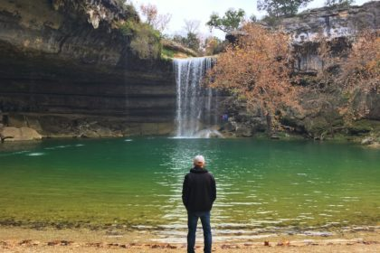 Exploring Hamilton Pool, outside of Austin