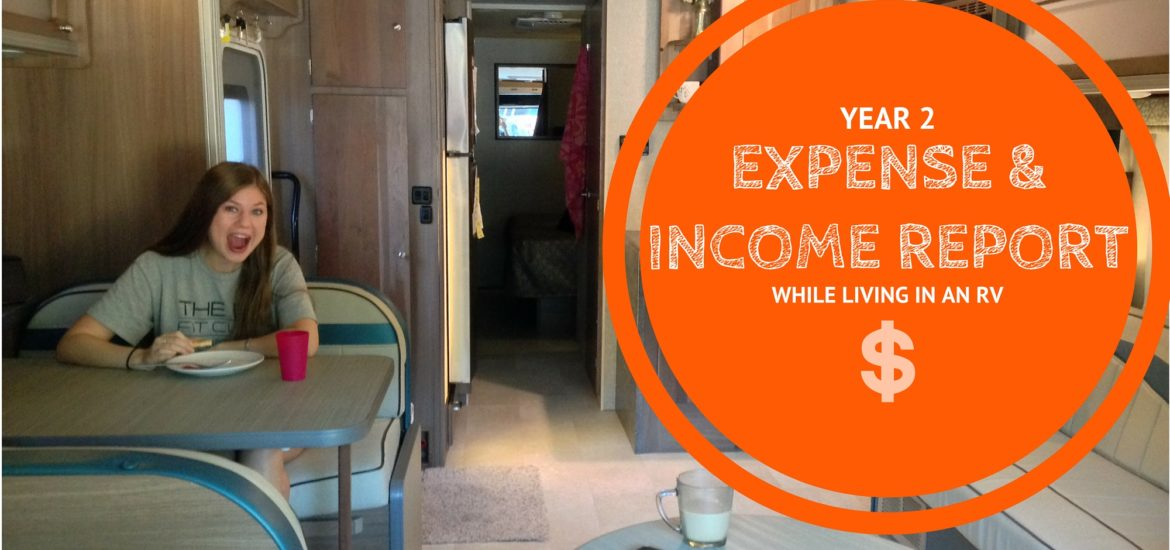 Year Two of Living in an RV: Expenses and Income Report