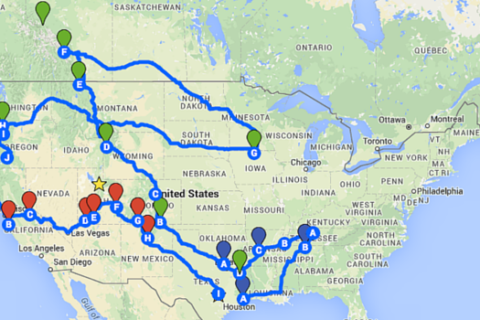 Our Summer Travel Route Is Planned! (Kind of)