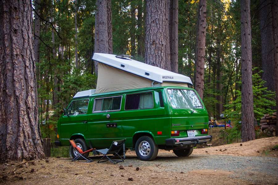VW van at The Inn Town Campground