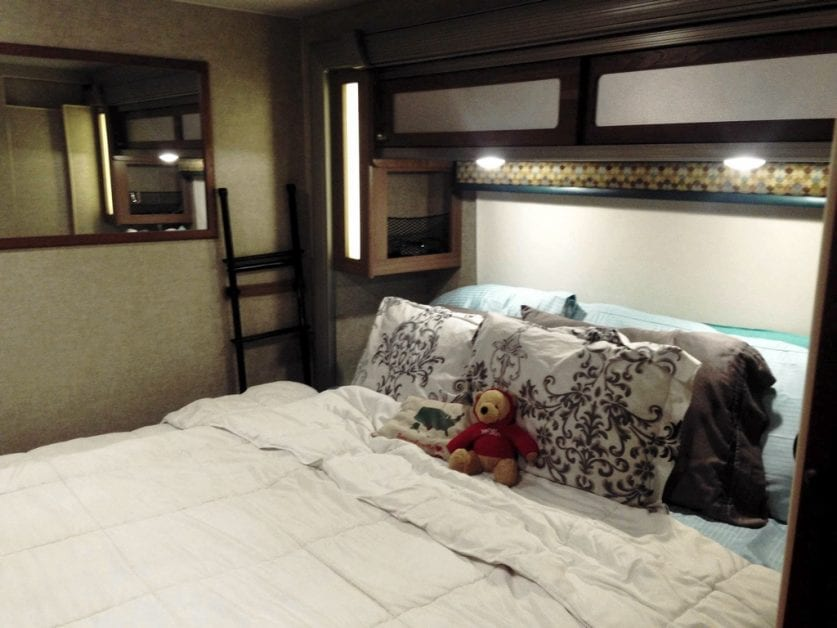 King size bed in RV