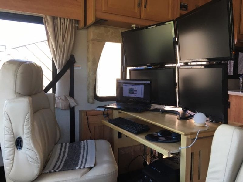 25 Mobile Office Set Ups To Inspire You To Rv Full Time