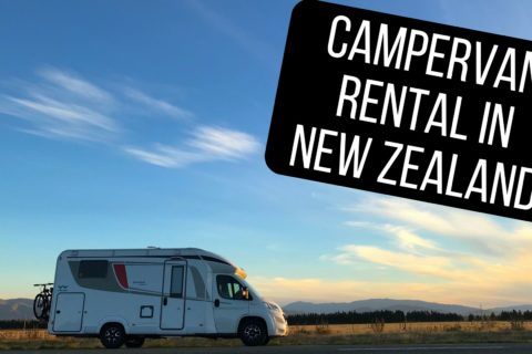 picking up our campervan rental in new zealand
